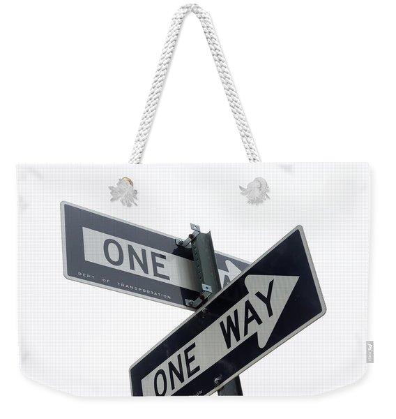 Which Way Weekender Tote Bag