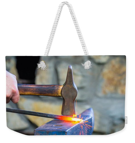 While The Iron Is Hot Weekender Tote Bag