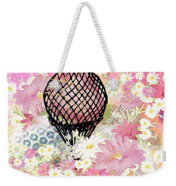 Whimsical Musing High In The Air Pink Weekender Tote Bag