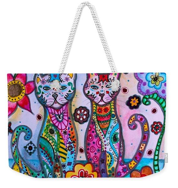 Whimsical Talavera Cats Weekender Tote Bag