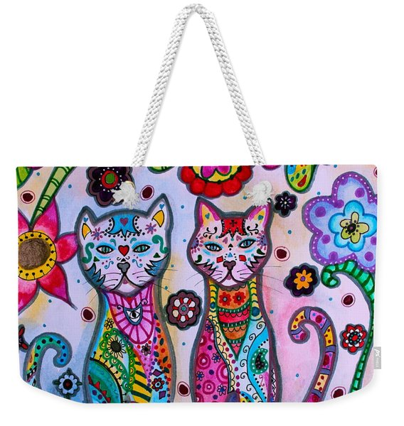 Whimsical Talavera Cats Weekender Tote Bag