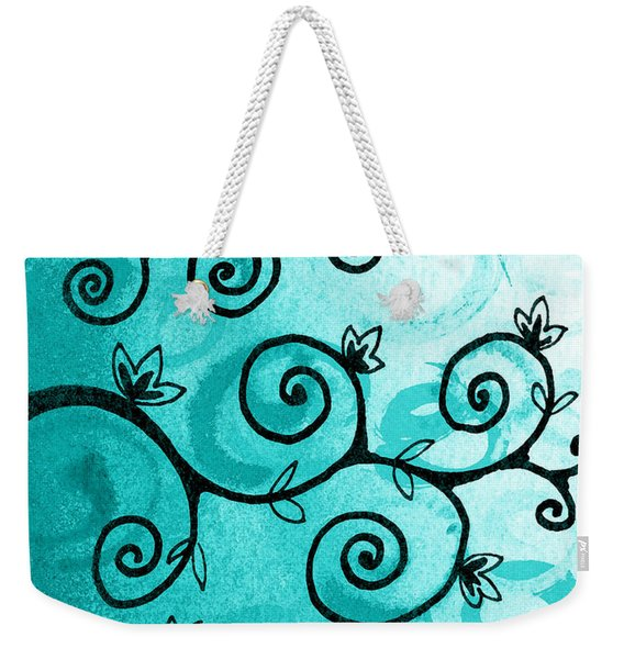 Whimsical Tree And A Hummingbird  Weekender Tote Bag