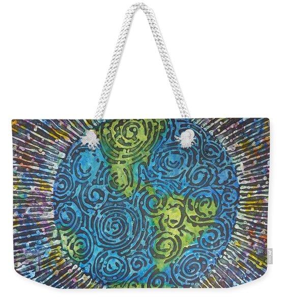 Whirled Piece Weekender Tote Bag