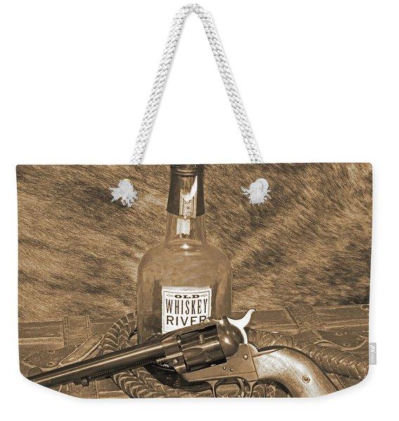Whiskey And A Gun Weekender Tote Bag