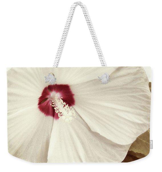 Whispering Hibiscus Weekender Tote Bag