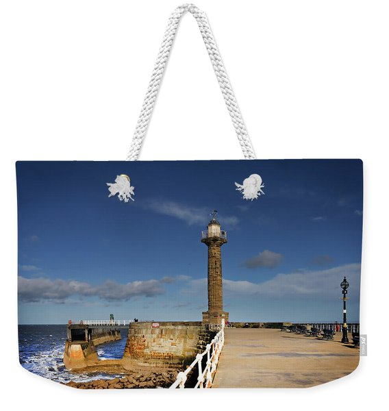 Whitby Lighthouse Weekender Tote Bag