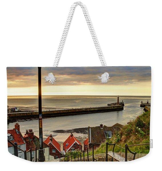 Whitby Sun Set Weekender Tote Bag