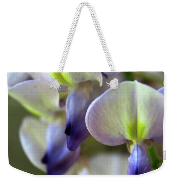 Wisteria White And Purple Weekender Tote Bag