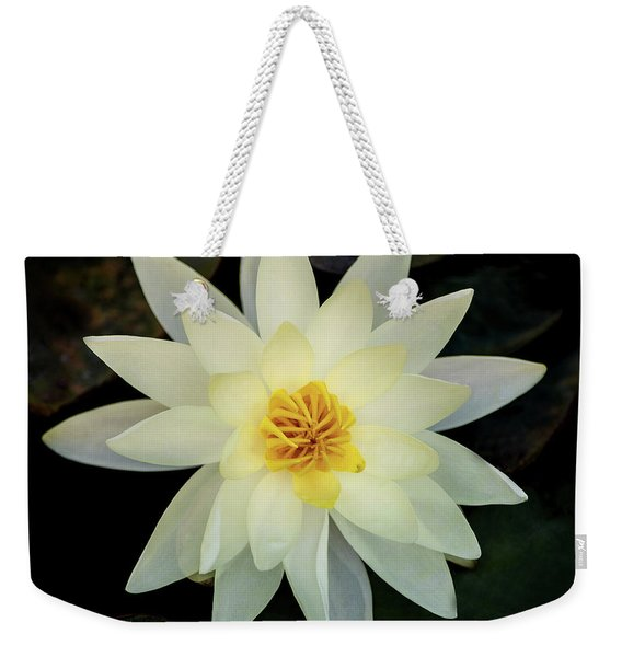 White And Yellow Water Lily Weekender Tote Bag