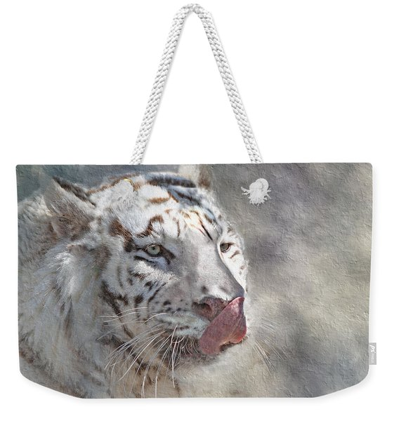 White Bengal Tiger Weekender Tote Bag