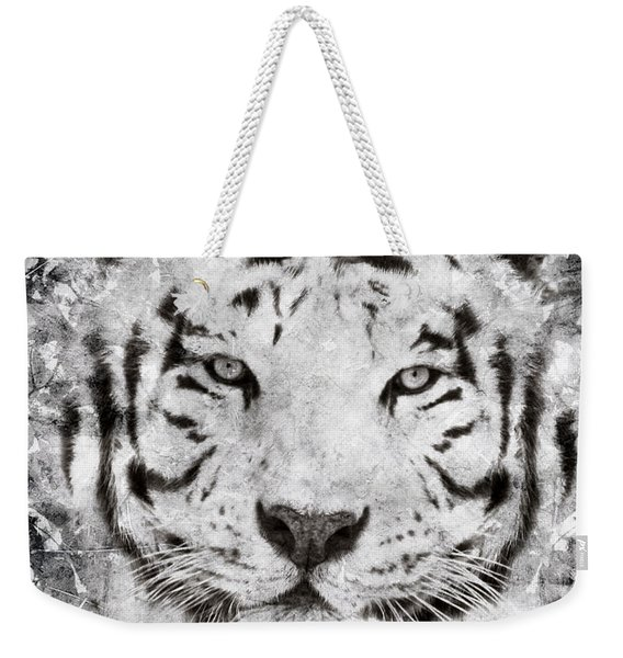 White Bengal Tiger Portrait Weekender Tote Bag