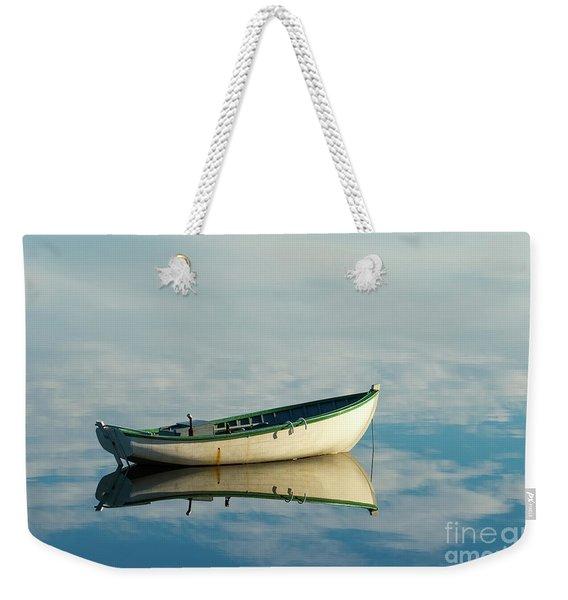 White Boat Reflected Weekender Tote Bag