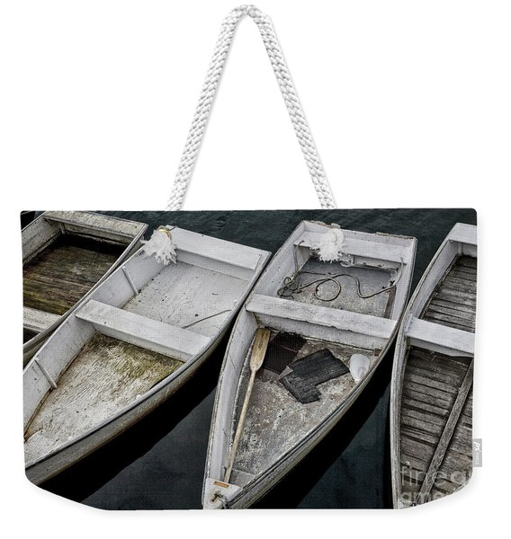 White Boats Weekender Tote Bag