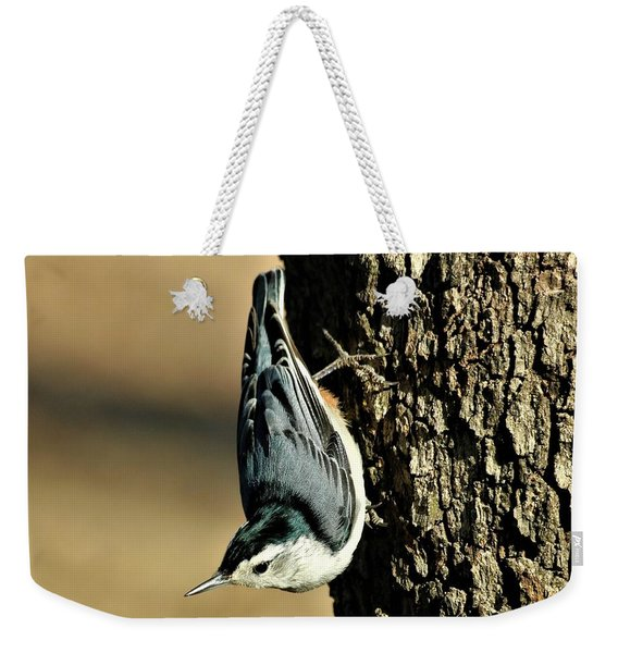 White-breasted Nuthatch On Tree Weekender Tote Bag