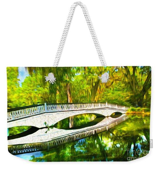 White Bridge Reflection Weekender Tote Bag