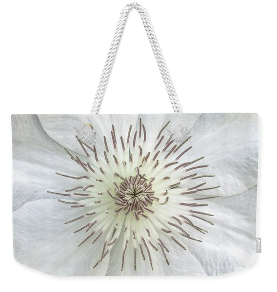 White Clematis Flower Garden 50121b Weekender Tote Bag
