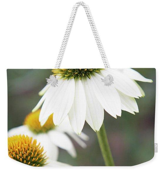 White Coneflower Weekender Tote Bag