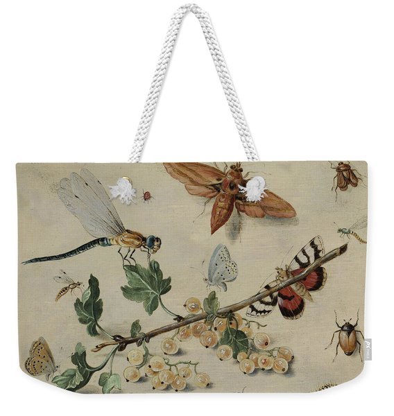 White Currants And Insects Weekender Tote Bag