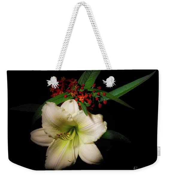 White Daylily From The Garden Weekender Tote Bag