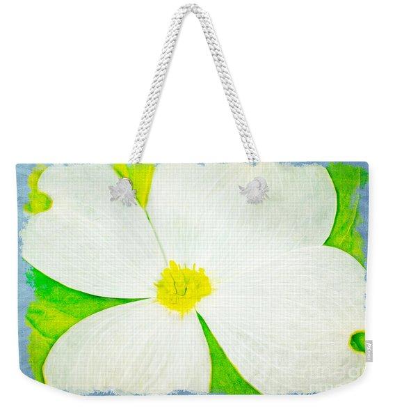 White Dogwood Bloom Weekender Tote Bag