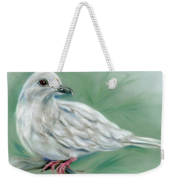 White Dove In The Pine Weekender Tote Bag