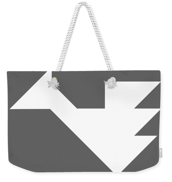 White Dragon Tangram Weekender Tote Bag