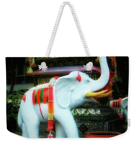 Weekender Tote Bag featuring the photograph White Elephant. Meaning A Big Expensive by Mr Photojimsf