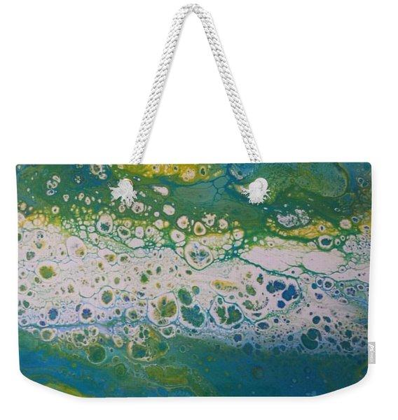 White Flow Weekender Tote Bag