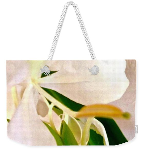 White Ginger Close Up Abstract Weekender Tote Bag