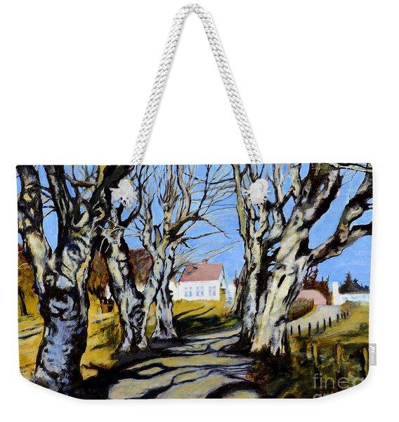 White Grove Weekender Tote Bag