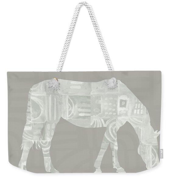 White Horse 2- Art By Linda Woods Weekender Tote Bag