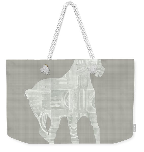 White Horse 3- Art By Linda Woods Weekender Tote Bag