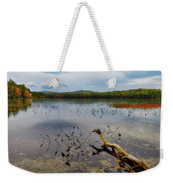 White Lake Autumn View Nh Weekender Tote Bag