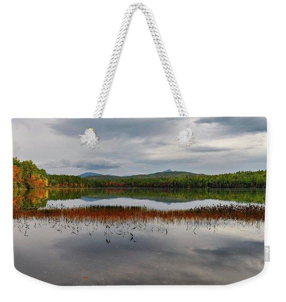 White Lake Fall Chocorua Nh Weekender Tote Bag