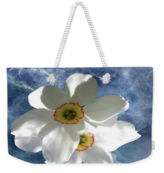 White Lightning Weekender Tote Bag