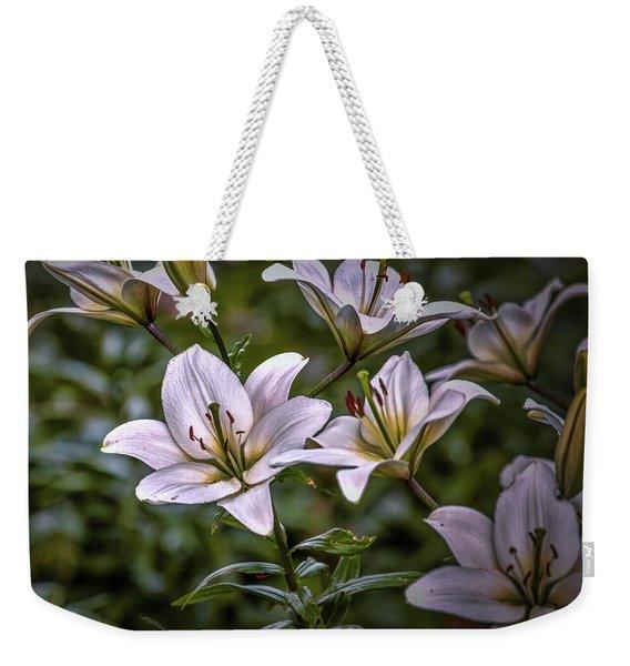 White Lilies #g5 Weekender Tote Bag