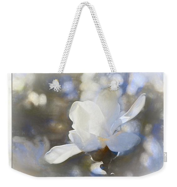White Magnolia Flower Blossom In The Sunlight Weekender Tote Bag