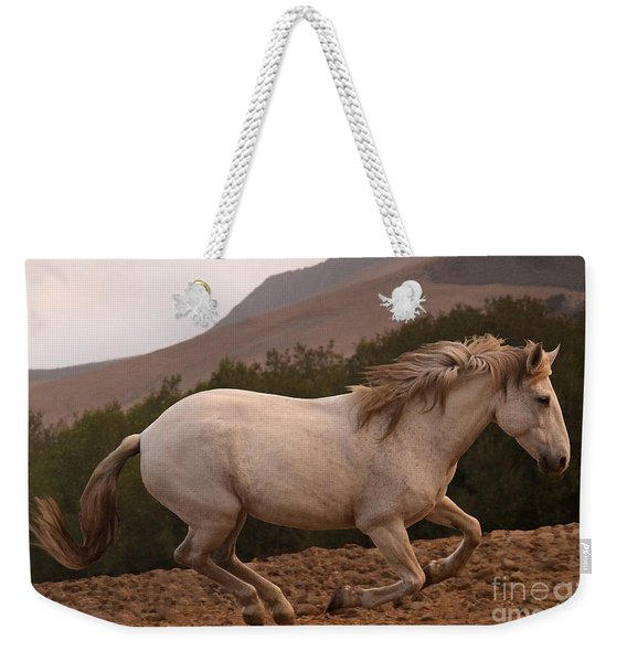 White Mare Gallops #1 -  Close Up Brighter Weekender Tote Bag