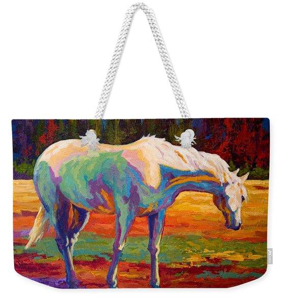 White Mare II Weekender Tote Bag