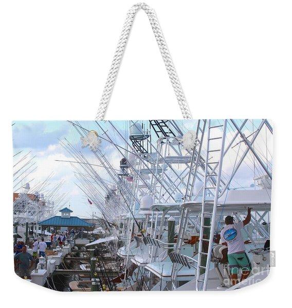 White Marlin Open Docks Weekender Tote Bag