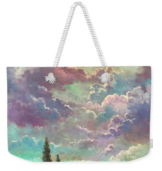 White Moon Rising Weekender Tote Bag