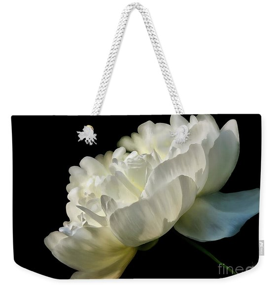 White Peony In The Light Weekender Tote Bag
