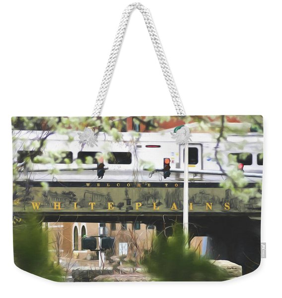 White Plains Train Station Weekender Tote Bag