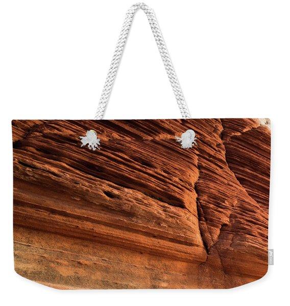 White Pocket Abstract Weekender Tote Bag
