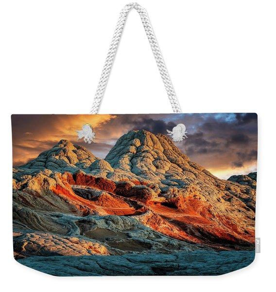 White Pocket Crater Weekender Tote Bag