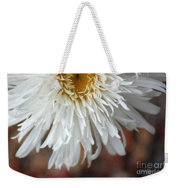 White Pure Flower Weekender Tote Bag