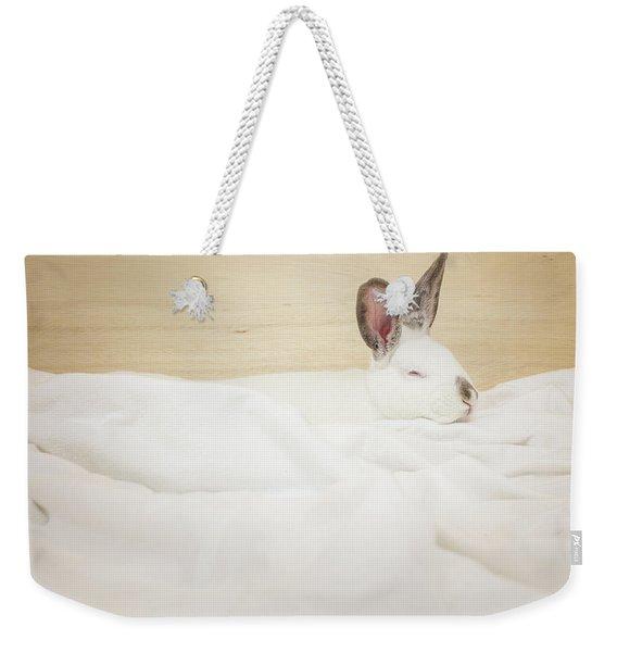 Sleeping Rabbit  Weekender Tote Bag