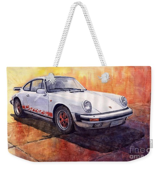 White Red Legend Porsche 911 Carrera Weekender Tote Bag