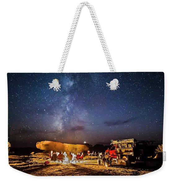 White Rim Camp Weekender Tote Bag