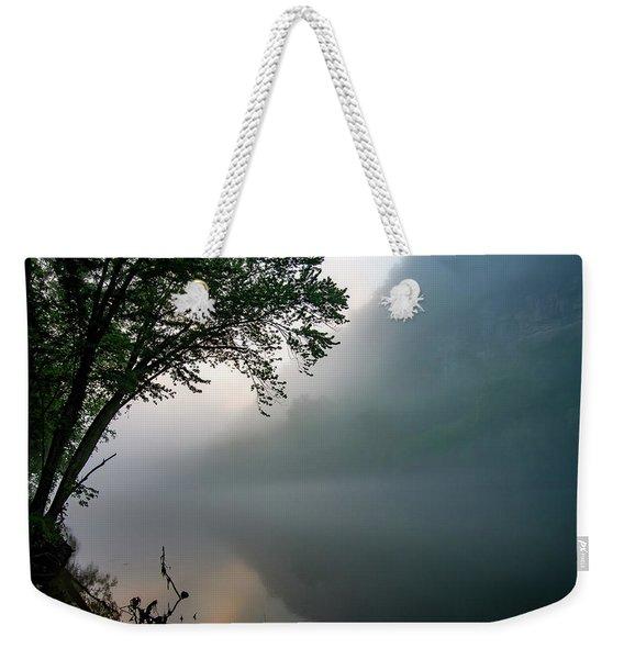White River Morning Weekender Tote Bag